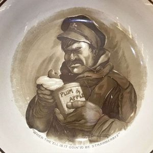 Rare Ww1 Old Bill Burns Bairnsfather Grimwades Bowl