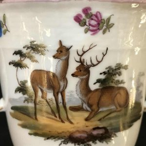 Rare Berlin Porcelain Two Handle Love Mug 18th Century