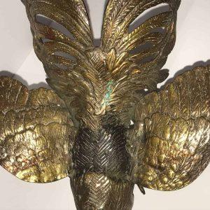 Antique Solid Bronze Cockerel Rooster Bird