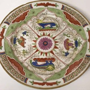 18th Century Hand Painted Worcester Porcelain Plate
