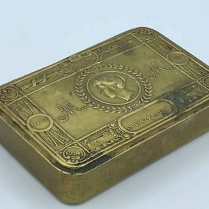 1914 WW1 PRINCESS MARY BRASS CHRISTMAS GIFT TIN