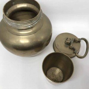 Antique Hindu Lota Brass Chambu Holly Water Vessel
