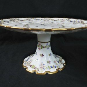 19th Century Hand Painted Copeland English Porcelain Cake Stand Plate