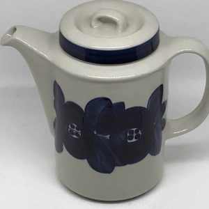 Blue & White Coffee Pot by Arabia Finland