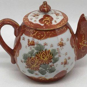 Signed Japanese Kutani Porcelain Teapot