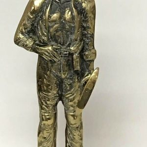 Very Large Heavy Brass Miner Mining Figure
