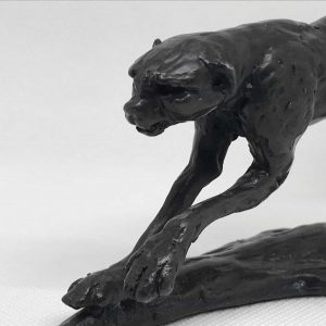 Limited Edition Sculpture by Nelson Forbes of a Bronze Cheetah