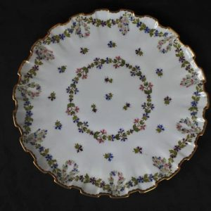 Pair Rare 19th Century Hand Painted Copeland English Porcelain Plates