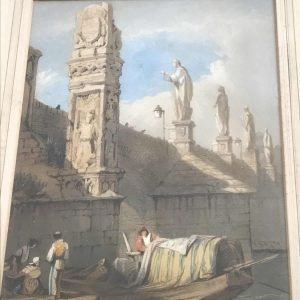 Rare Original Watercolour Charles Bridge, Samuel Prout 1784 – 1852