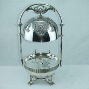 Meriden Co 19th Century Silver Plate butter server 4940 from the 1886 catalogue