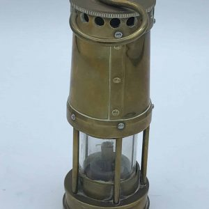 Small Welsh Brass Miners Lamp Produced By Thomas And Williams