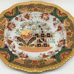 19th Century Hand Painted Spode Porcelain Cabinet Plate For Tiffany