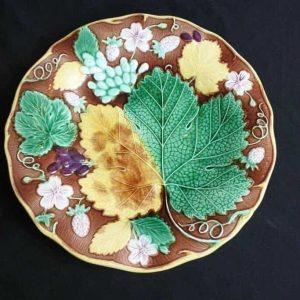 Rare 19th Century Wedgwood Majolica Strawberry Plate