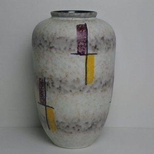 Superb West German Retro 1960s Pottery Vase Hand Painted