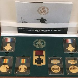 World War 1 Campaign Medal Set In Silver Worcestershire Medal Service