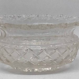 18th Century Georgian Irish Cut Glass Finer Bowl Or Master Salt