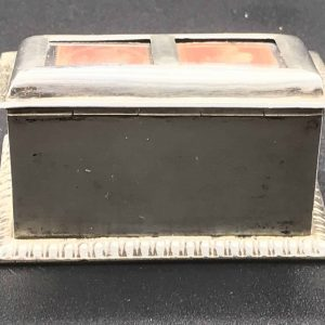 19th Century Victorian English Sterling Silver Stamp Box