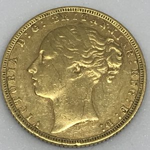 1871 22ct Gold Full Sovereign Young Head Queen Victoria