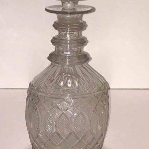 Antique Early 19th Century Georgian Cut Glass Decanter