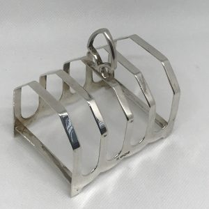 Art Deco 1932 Sterling Silver Toast Rack James Deakin and Sons