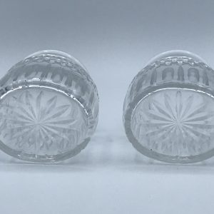 Pair Antique Cut Glass Bottles / Jars Tea Caddy / Pickle / Dressing Table ?