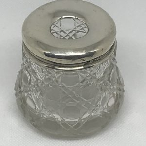 Sterling Silver and Cut Glass Hair Catcher London 1914 Robert Pringle and Son