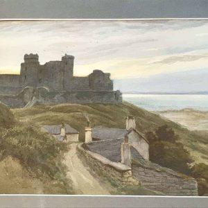 Watercolour Painting Harlech Castle Murray Bernard Bladon RBSA