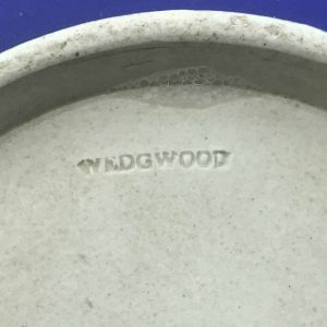 19th Century Wedgwood Jasper Ware Blue & White Biscuit Barrel