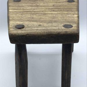 Antique 19th Century Wood Milking Stool