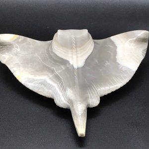 Carved and Polished Agate Model of a Sting Ray / Fish