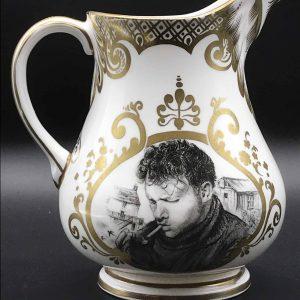 Welsh Glyn Coch Porcelain Jug Dylan Thomas