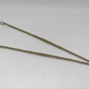 Heavy 9ct Gold Watch Double Albert Chain Hallmarked On Every Link