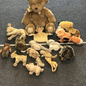 Large Collection of Vintage Soft Toys, Teddy Bears and Other Animals Mainly Steiff