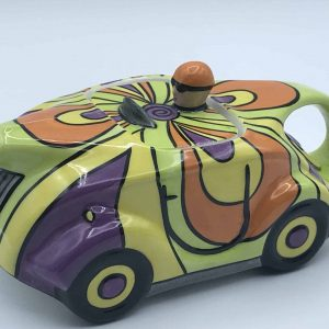 lorna bailey racing car teapot psychedelic Limited Edition of Only 100