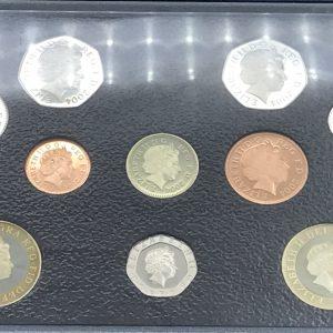 Set British Decimal Coins 2004 1P 2p 5p 10p 20p 50p £1 £2