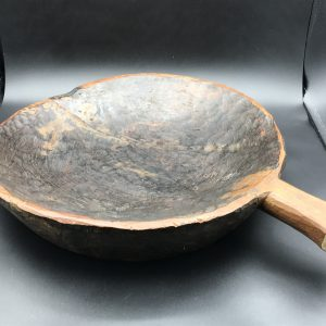 Large African Hand Carved Dough Bowl
