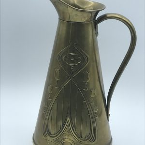 Antique Art Nouveau Brass Jug By JS&S Joseph Sankey
