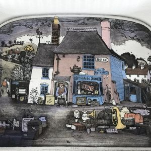 Hand Coloured Etching By Graham Clarke Limited Edition