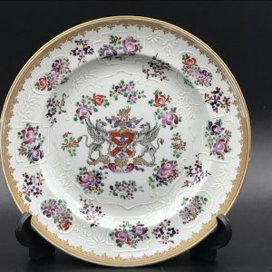 19th Century Hand Panted Porcelain Plate By Edme Samson