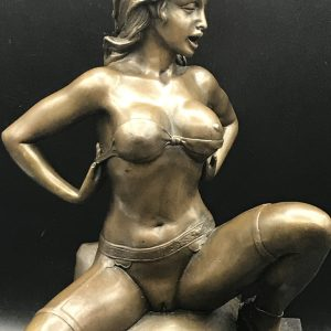Large Erotic Nude Bronze Figure By M Nick