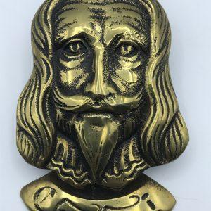 1930s Solid Brass Door Knocker Charles 1st