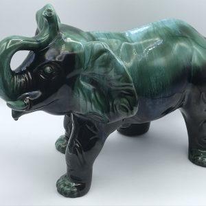 Large Blue Mountain Pottery Elephant