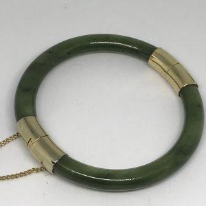 20th Century Chinese Green Jade Bangle