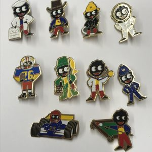 Group James Robertson 1980s Golly Badges