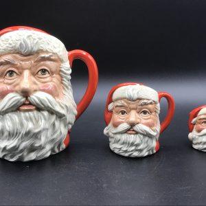 Graduated Set Royal Doulton Character Jugs Santa Claws Father Christmas