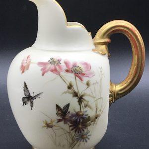 19th Century Worcester Flat Back Porcelain Jug