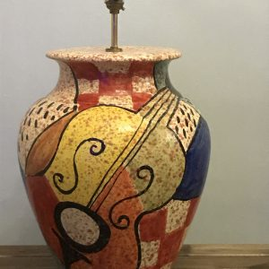 Very Large Mid Century Italian Pottery Lamp Bellini 1960s