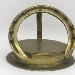 World War One Trench Art Horse Shoe Dated 1917 Peronne Battle Somme