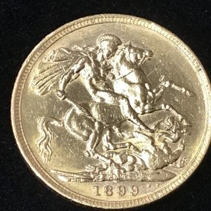 1899 22ct Gold Full Sovereign Queen Victoria