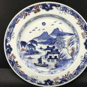 18th Century Hand Painted Chinese Qianlong Porcelain Plate